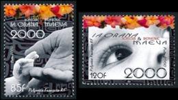 POLYNESIE 2000 - Yv. 610 Et 611 ** TB  Faciale= 1,72 EUR - Ia Orana & Maeva (2 Val) Bonjour Bienvenue  ..Réf.POL25264 - Polinesia Francesa