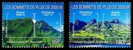 POLYNESIE 2000 - Yv. 623 Et 624 ** TB  Faciale= 2,27 EUR - Sommets De Plus De 2000m (2 Val.)  ..Réf.POL25270 - Polinesia Francesa