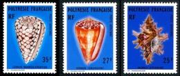 POLYNESIE 1977 - Yv. PA 114 115 Et 116 **   Cote= 9,90 EUR - Coquillages Murex Et Conus (3 Val.)  ..Réf.POL25178 - Aéreo