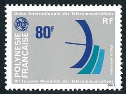 POLYNESIE 1978 - Yv. PA 136 **   Cote= 7,10 EUR - Journée Mondiale Des Télécommunications  ..Réf.POL25190 - Poste Aérienne