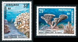 POLYNESIE 1977 - Yv. PA 121 Et 122 **   Cote= 5,30 EUR - Récifs Coralliens (2 Val.)  ..Réf.POL25180 - Aéreo