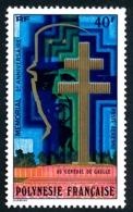 POLYNESIE 1977 - Yv. PA 123 **   Cote= 9,60 EUR - Mémorial Général De Gaulle  ..Réf.POL25181 - Aéreo