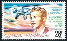 POLYNESIE 1977 - Yv. PA 125 **   Cote= 9,50 EUR - Charles Lindberg, Pilote D'avion  ..Réf.POL25183 - Aéreo