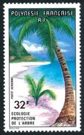 POLYNESIE 1977 - Yv. PA 128 **   Cote= 11,50 EUR - Ecologie. Protection De L'arbre  ..Réf.POL25185 - Poste Aérienne