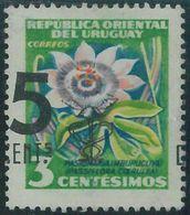 88740a - URUGUAY -  STAMP -  SHIFTED OVERPRINT Error #655b  - MEDICINE Flowers - Medicine