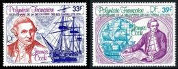 POLYNESIE 1978 - Yv. PA 130 Et 131 **   Cote= 7,70 EUR - James Cook, Iles Hawaii (2 Val.)  ..Réf.POL25187 - Aéreo