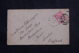 QUEENSLAND - Affranchissement Victoria De Brisbane Sur Enveloppe Pour Londres En 1897 - L 64656 - Briefe U. Dokumente