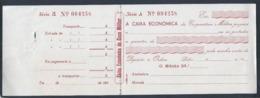Raro Cheque Da Caixa Económica Da Cooperativa Militar. Casa Militar. Check Caixa Económica Da C. Militar. Military House - Cheques & Traveler's Cheques