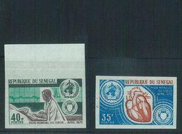 88741 - SENEGAL  - Set Of 2 IMPERF Stamps NON DENTELLES: Medicine CARDIOLOGY - Medicine