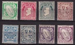 IRELAND EIRE 1922 National Symbols WM 1 8 Values From The Set Michel 40-41-43/48 A MH - 1922-37 Stato Libero D'Irlanda