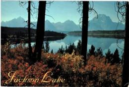 Jackson Lake, Grand Teton National Park, Wyoming, US - Posted To Australia 1997 With Stamp - Etats-Unis