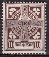 IRELAND EIRE 1922 National Symbols WM 1 10 Pg Brown Michel 50 A MH - 1922-37 Stato Libero D'Irlanda