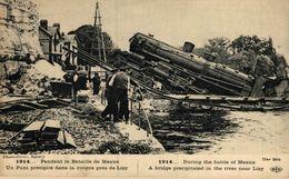 Pendant La Bataille De Meaux - Un Pont Précipité Dans La Rivière Près De Lizy  WWI WWICOLLECTION - Guerre 1914-18