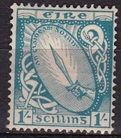 IRELAND EIRE 1922 National Symbols WM 1 1 Sc Skyblue Michel 51 A MH - 1922-37 Stato Libero D'Irlanda