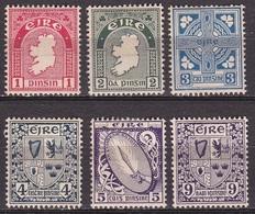 IRELAND EIRE 1940-67 National Symbols WM 2 6 Values From The Set Michel 72-74-76/78-80 A MH - 1922-37 Stato Libero D'Irlanda