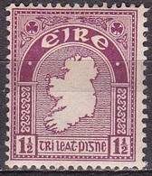 IRELAND EIRE 1940-67 National Symbols WM 2 1½ Lilacred Michel 73 A MH - 1922-37 Stato Libero D'Irlanda