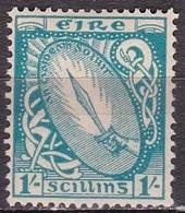 IRELAND EIRE 1940-67 National Symbols WM 2 1shilling Skyblue Michel 82 A MH - 1922-37 Stato Libero D'Irlanda