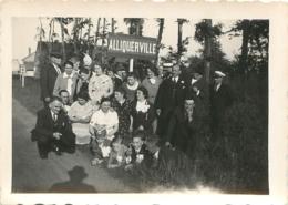 TROUVILLE ALLIQUERVILLE PHOTO ORIGINALE 9 X 6.50 CM - Orte
