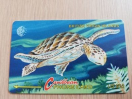 BRITSCH VIRGIN ISLANDS  US$ 10   BVI-22a   TURTLE      22CBVA     Fine Used Card   ** 2656** - Vierges (îles)