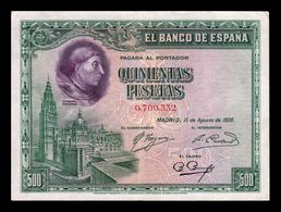 España Spain 500 Pesetas C. Cisneros 1928 Pick 77 T. 332 MBC/EBC VF/XF - [ 1] …-1931 : Premiers Billets (Banco De España)