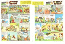"""PLANCHES """" ASTERIX Et OBELIX """"  """" LE COMBAT DES CHEFS   """"   1965 ( 1 ) - Objets Publicitaires"""