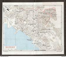 CARTE PLAN 1967 - GRECE SALONIQUE - SALONIC GREECE - GRECIA SALÓNICA - GRECIA SALONICA - SALONISCHES GRIECHENLAND - Carte Topografiche