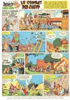 """PLANCHE """" ASTERIX Et OBELIX """"  """" LE COMBAT DES CHEFS   """"   1965 ( 2 ) - Objets Publicitaires"""