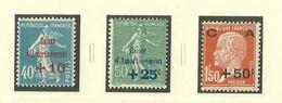 Au Profit De La Caisse D'Amortissement - 1927 - Lot De 3 Timbres - Neufs ** - France