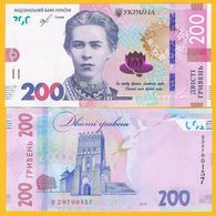 Ukraine 200 Hryven P-new 2019 UNC Banknote - Ukraine