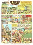 """PLANCHE """" ASTERIX Et OBELIX """"  """" LE COMBAT DES CHEFS   """"   1965 ( 3 ) - Objets Publicitaires"""