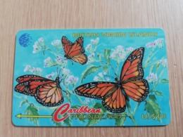 BRITSCH VIRGIN ISLANDS  US$ 10  BVI-91B   BUTTERFLY       91CBVB     Fine Used Card   ** 2667** - Vierges (îles)