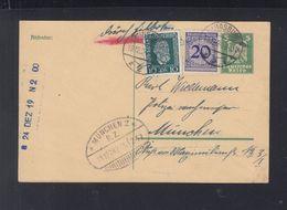 Dt. Reich Expres GSK Mit ZuF 1924 Augsburg Nach München Bahnpost - Duitsland