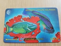 BRITSCH VIRGIN ISLANDS  US$ 20  BVI-91C   BUTTERFLY       91CBVC     Fine Used Card   ** 2668** - Vierges (îles)