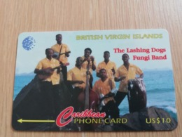 BRITSCH VIRGIN ISLANDS  US$ 10  BVI-103C   LASHING DOGS      103CBVC     Fine Used Card   ** 2669** - Vierges (îles)
