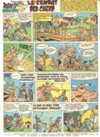 """PLANCHE """" ASTERIX Et OBELIX """"  """" LE COMBAT DES CHEFS   """"   1965 ( 4 ) - Objets Publicitaires"""