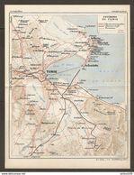CARTE PLAN 1934 N° 294 - TUNISIE TUNISIA ENVIRONS De TUNIS - ROUTES CHEMINS De FER TRAMWAY - La GOULETTE La MARSA ARIANA - Carte Topografiche