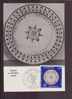 """France, Carte Maximum Du 8 Mai 1976 à Paris """" Europa, Assiette En Sèvres """" - Cartes-Maximum"""