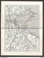 CARTE PLAN 1955 - TUNISIE TUNIS Et Ses ENVIRONS - ARIANA LA GOULETTE HAMMAN LIF VILLEJACQUES MOHAMMEDIA LA MARSA - Carte Topografiche