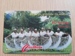 BRITSCH VIRGIN ISLANDS  US$ 20  BVI-103G   HERITAGE DANCERS       103CBVG     Fine Used Card   ** 2671** - Vierges (îles)