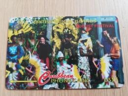 BRITSCH VIRGIN ISLANDS  US$ 5  BVI-103H   AUGUST FESTIVAL       103CBVH     Fine Used Card   ** 2672** - Vierges (îles)