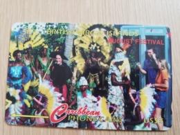 BRITSCH VIRGIN ISLANDS  US$ 5  BVI-143G   AUGUST FESTIVAL       143CBVG     Fine Used Card   ** 2673** - Vierges (îles)