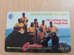 BRITSCH VIRGIN ISLANDS  US$ 10  BVI-143C   LASHING DOGS       143CBVC     Fine Used Card   ** 2674** - Vierges (îles)