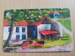 BRITSCH VIRGIN ISLANDS  US$ 10  BVI-193J   SUGARCANE FACTORY     193CBVJ     Fine Used Card   ** 2677** - Vierges (îles)
