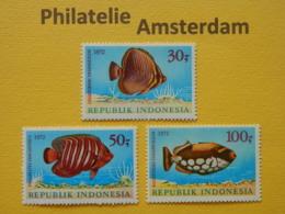 Indonesia 1972, FAUNA FISH FISCHE VISSEN POISSONS PECES PESCI: Mi 722-24, ** - Fishes