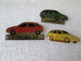 PIN'S      LOT 3  CITROEN  ZX - Citroën