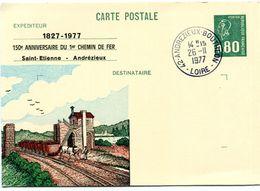 Cachet à Date Andrézieux Boutheon - Anniversaire Chemin De Fer - Novembre 1977 - Y 228 - Gedenkstempels