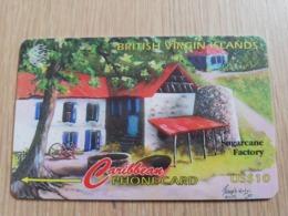 BRITSCH VIRGIN ISLANDS  US$ 10  BVI-218B   SUGARCANE FACTORY     218CVVB     Fine Used Card   ** 2678** - Vierges (îles)