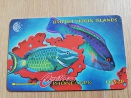 BRITSCH VIRGIN ISLANDS  US$ 20  BVI-25B   PARROTH FISH    25CBVB     Fine Used Card   ** 2680** - Vierges (îles)