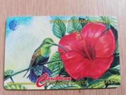 BRITSCH VIRGIN ISLANDS  US$ 5  BVI-67A   HUMMING BIRD    67CBVA     Fine Used Card   ** 2681** - Vierges (îles)