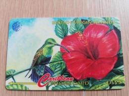 BRITSCH VIRGIN ISLANDS  US$ 5  BVI-91A   HUMMING BIRD    91CBVA     Fine Used Card   ** 2682** - Vierges (îles)